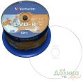 Диск DVD-R 50 шт Cake box VERBATIM Printable 4.7 GB/120 min 16x (43533)